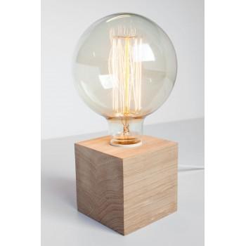 Lampa stołowa drewniana...