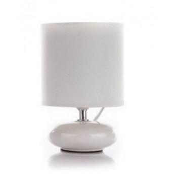 Lampa z abażurem kolor kremowy